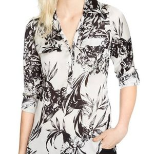 Long Sleeve Butterfly Forest Blouse NWOT